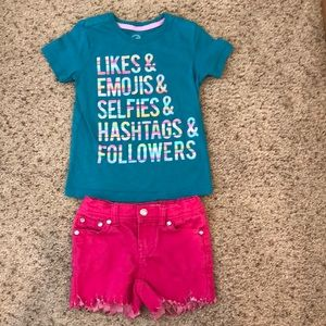 Shirt (XS 4/5) and Shorts (4T) Outfit